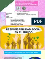 Responsabilidad Social en El Mundo .