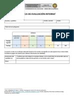 Rúbrica de Evaluación Interna
