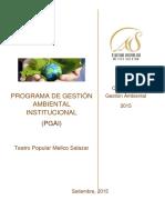 PROGRAMA DE GESTIÓN AMBIENTAL INSTITUCIONAL  TPMS