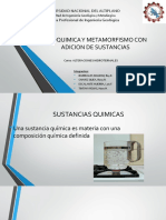 Geoquimica y Metamorfismo Con Adicion de Sustancias