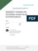 Manejo y Diseno de Sistemas Agricolas Sustentables