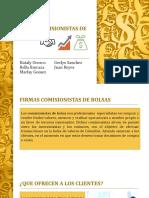 Firmas Comisionistas de Bolsas