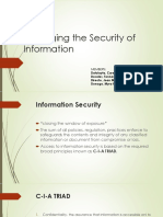 Managing the Security of Information