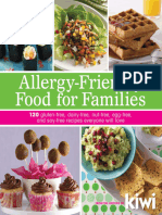 Allergy Friendly Food for Families 120 Gluten Free Dairy Free Nut Free Egg Free and s