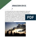 Contaminacion en El Mundo Ana