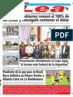 Periódico Lea Miércoles 16 de Mayo Del 2018