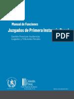 Manual de Funciones Juzgados de Primera Instancia Penal