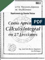 Aprender Calculo Integral en 27 Lecciones