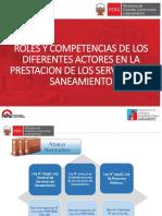 Roles y Competencias de Los Diferentes Actores en Saneamiento 01.03.2016
