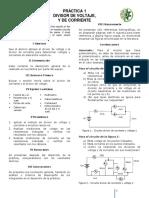 P1 Divisor de Corriente y Voltaje