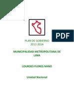 Plan de Gobierno Lourdes