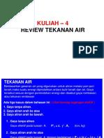 4. Review Tekanan Air