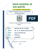 Tercer Trabajo (Funciones y Responsabilidades Del Control de Calidad)