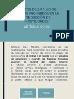 Delitos de Empleo de Medios Prohibidos en La