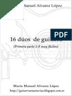 Mario Manuel Alvarez López. 16 dúos muy fáciles (Primera parte).pdf