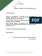 COMUNICADO - DESCONTINUAÇÃO DE PRODUTOS 2018