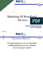 Marketing of Broadband Services