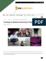 Exchange at National University of Singapore (NUS)
