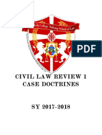 Civil Law Review 1 Case Doctrines 2017 2018