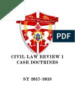 Civil Law Review 1 Case Doctrines 2017 2018