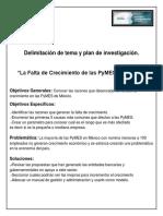 Delimitación de Tema y Plan de Investigación