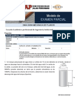 Modelo de Examen Parcial Mecanica de Fluidos