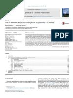 Plastic Waste Concrete-litrature Review