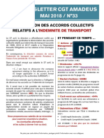 Newsletter 33 - Indemnités de Transport