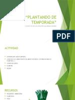 CEE María Soriano - Plantando de Temporada