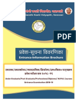 MGKVP Entrance Exam Brochure 2018-19