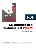 Solano LaSignificacionHistoricaDelPOUM