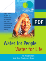 Sach-Water for People, Life