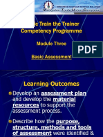 2 - Basic Assessment in Training