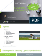 UNIFY Webinar OSBiz V2R2 Including Pay as You Go October 2016_Final