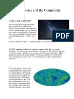 Originea complexitatii universului