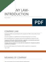Company Law Intrdouction