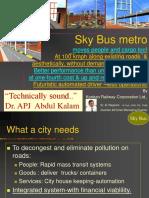 Sky Bus metro Presentation by B Rajaram