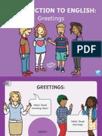 Forme de Salut in Limba Engleza-Powerpoint Audio