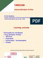 9.Drug Metabolism-Drug Metabolic Profile