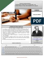 INST MACHADODE ASSIS 148 Prova de Fiscal de Obras
