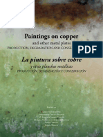 Investigation and testing to develop an infill formula suitable for oil painting on copper