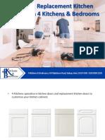 Ordering Replacement Kitchen Doors With 4 Kitchens & Bedrooms