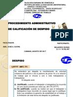 Calificación de Despido.