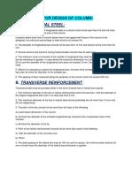 Basic Rules for Design of Column