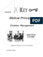 20 Key Biblical Principles for Management