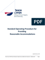 Peace Corps Reasonable Accommodation 2018 MS 653 Attachment D Standard Operating Procedure for Providing Reasonable Accommodation