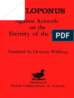 (Ancient Commentators on Aristotle) Philoponus _ Christian Wildberg (Translator)-Against Aristotle on the Eternity of the World (Ancient Commentators on Aristotle)-Duckworth (1987)
