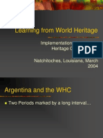 Patero Learning from World Heritage Presentation