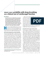 Heart Rate Variability With Deep Breathing as a Clinical Test of Cardiovagal Function