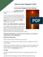 Anti Stress 5 Astuces Pour Regagner Votre Energie